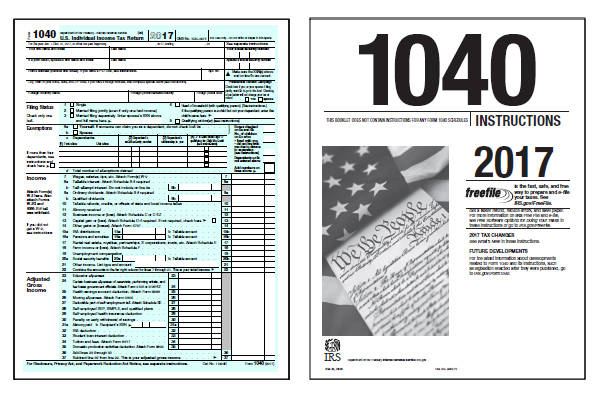 Printable Federal 1040ez 2017 Form