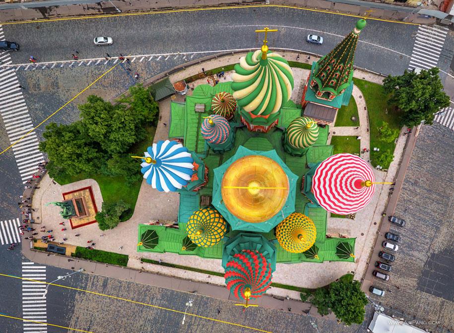 Petersburg Aerial Russia Saint