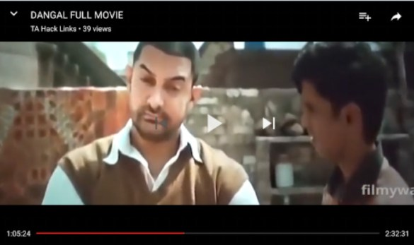 Dangal full movie available for free on YouTube  Aamir Khan suffers     Dangal full movie available for free on YouTube leaked12