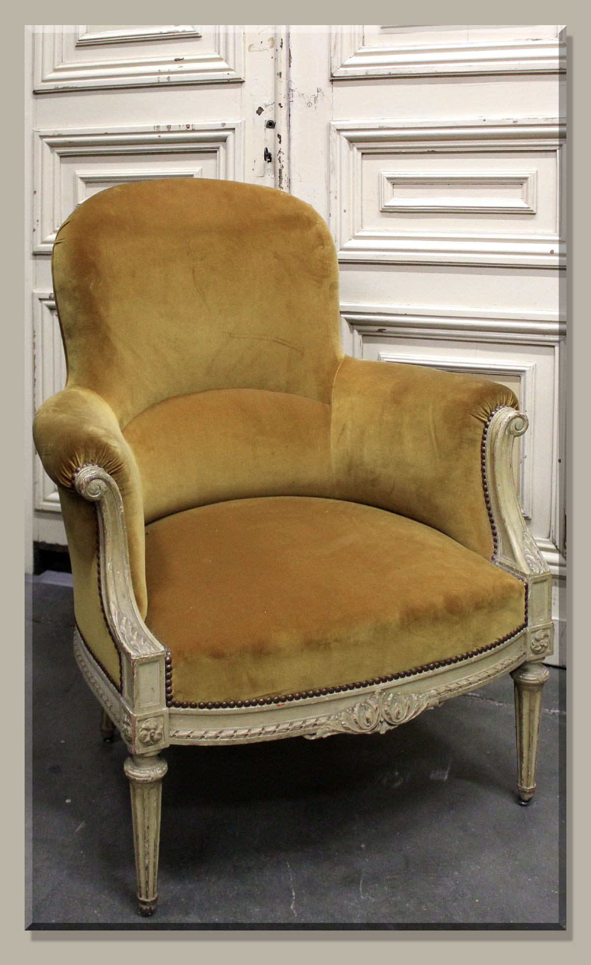 Antique French Bergere Armchairs