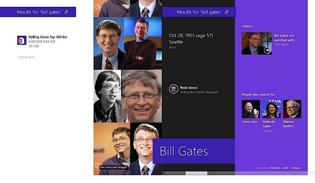 Windows 8.1 Search