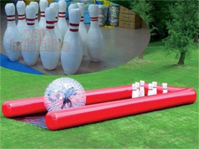 New Airtight Human Bowling Ball Inflatable Sports Challenge for Sale     Zorbing Ramp