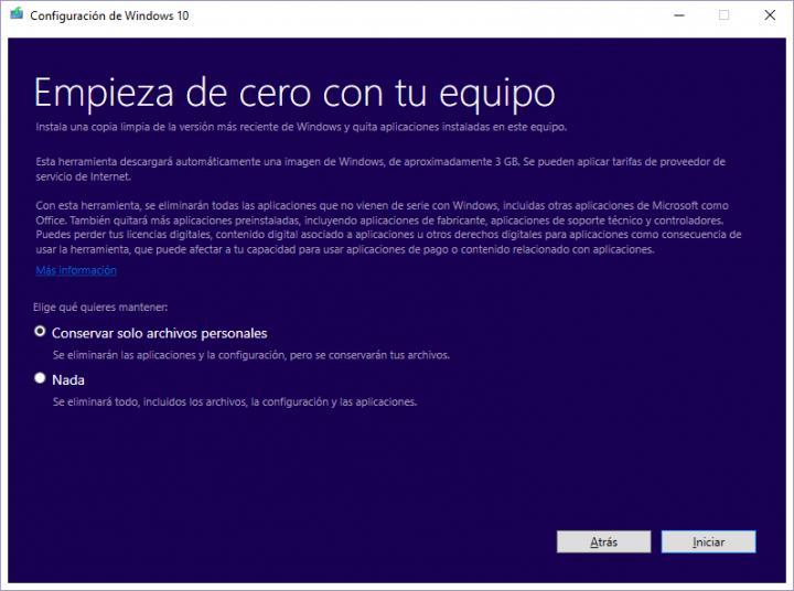 What Windows 10 Fresh Start