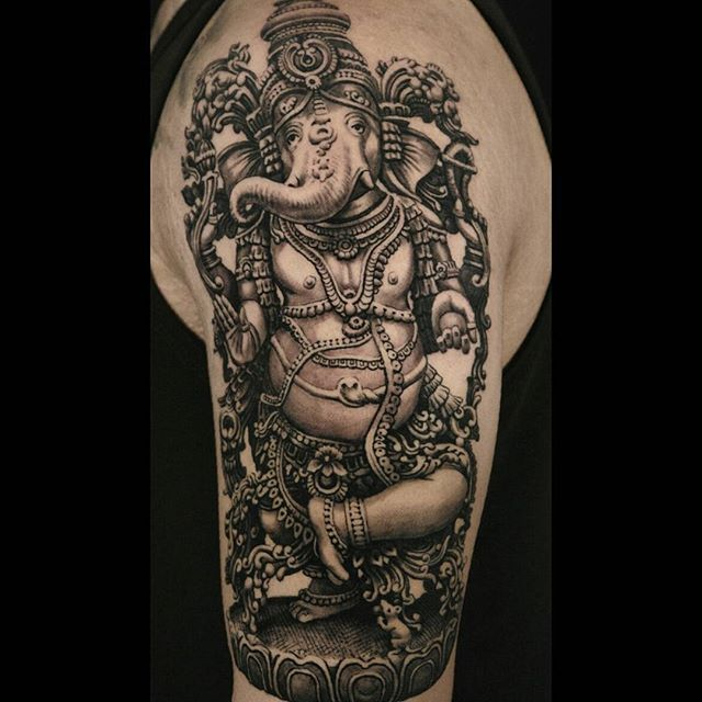 ganesha tattoo for men - 600×600