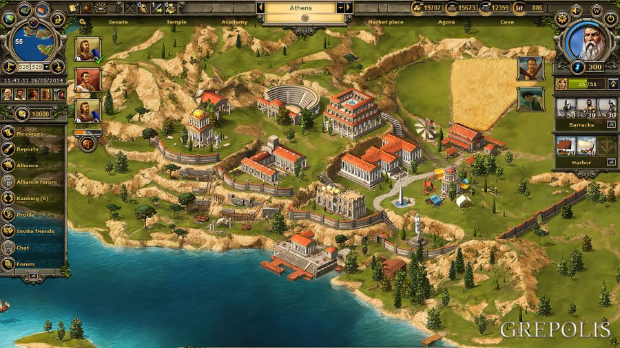 Grepolis     Online Strategy Game in ancient Greece  Choose your God  GAME PREVIEW