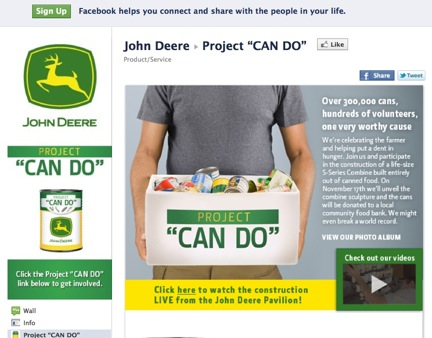 John Deere Uses Social Media to Feed the Hungry