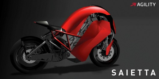 Britain's newest electric motorcycle, the Agility Saietta