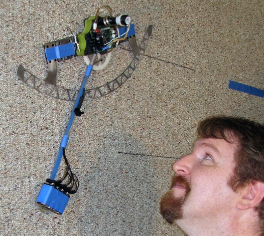 ROCR the swingin' wall-climbing robot