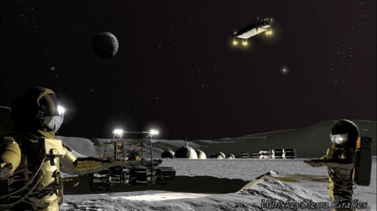 Plan to establish first lunar base and gas stations in space