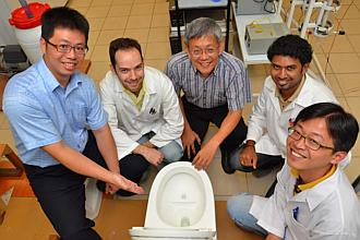 Nothing goes to waste when visiting green toilet NTU researchers green loo uses less water, recycles human waste