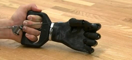 Low-cost, 3D printable prosthetic hand
