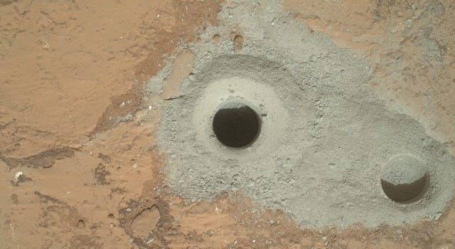 NASA Curiosity Rover Collects First Martian Bedrock Sample