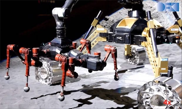 DFKI's Space Rovers and Hexapods Will Team Up on Other Planets