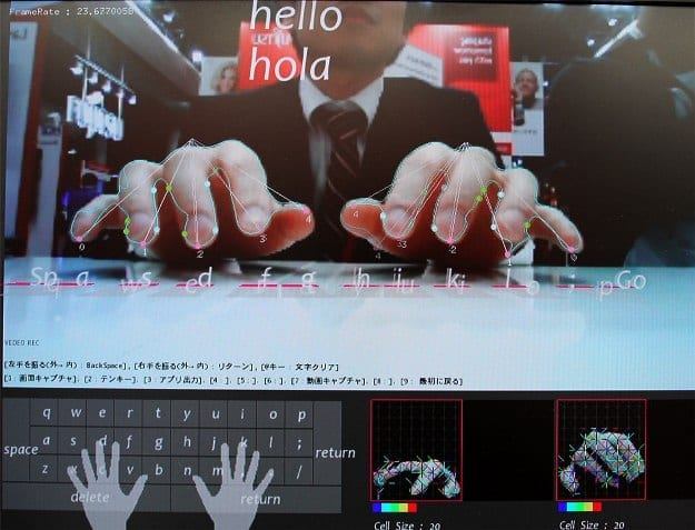 Virtual Keyboard for Mobile Devices has Users Type on Air