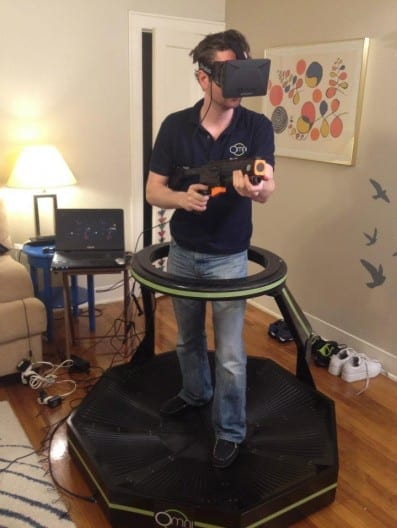 3D Headset and Treadmill Combo Make Video Games Feel Real