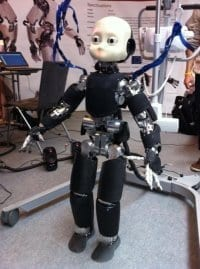 Human Robot Getting Closer