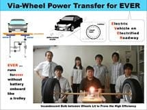 World's first demonstration of power transfer from wheels to power an electric car - could greatly extending EV's range