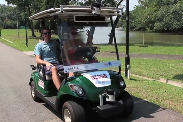 Self-driving golf carts