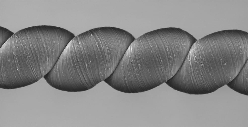 High-tech yarns generate electricity when they are stretched or twisted