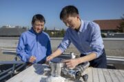 A rooftop device that can make solar power and cool buildings at the same time