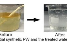 A new energy efficient process removes nearly all traces of oil in produced water
