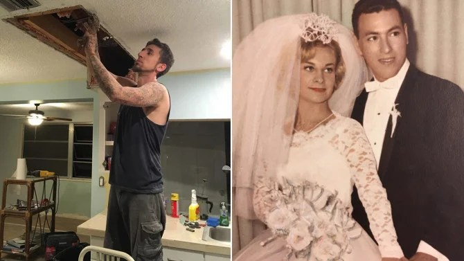 Couple Finds 1963 Wedding Album In Ceiling Of Florida Home