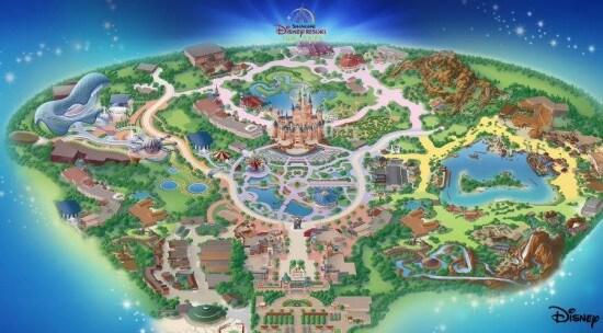 Resort Shanghai Disneyland Map
