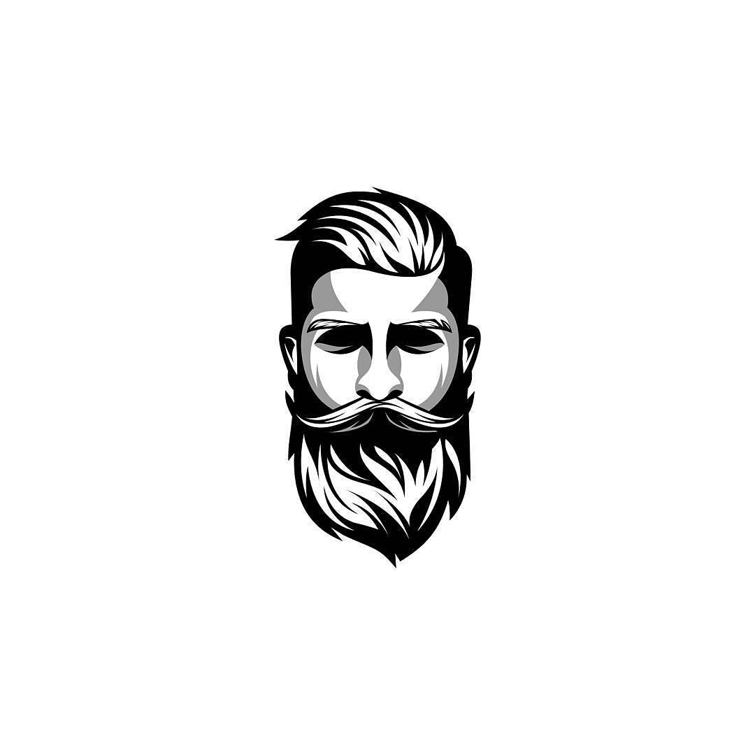 barber logo template - 736×736