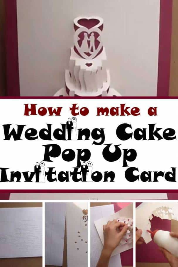 Diy Wedding Cake Pop Out Invitation Card Make Your