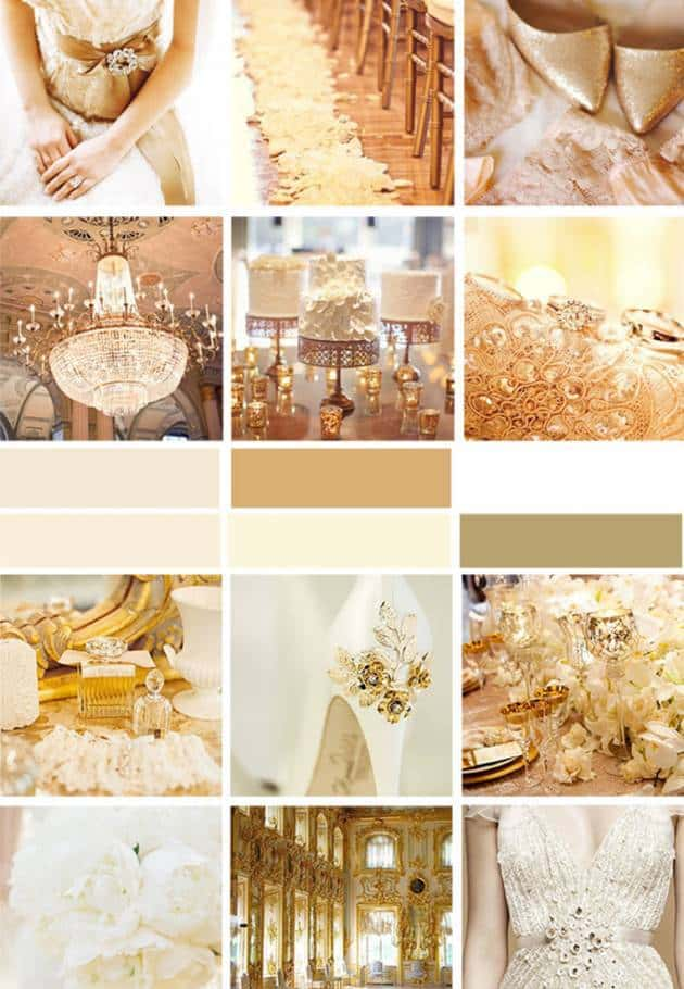 Navy And Champagne Wedding Colors