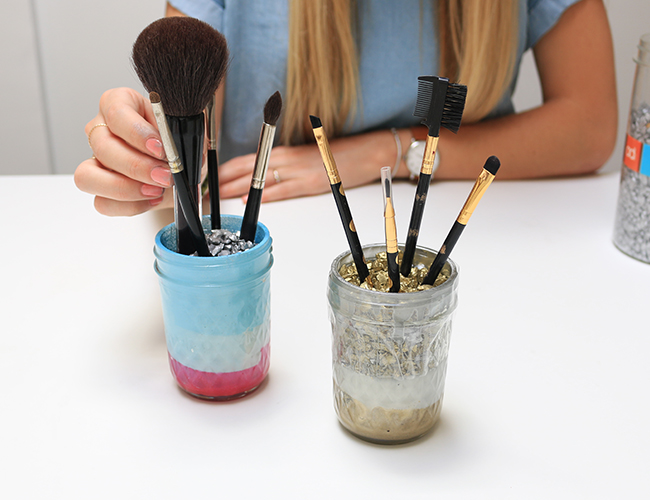 Mason Jar Makeup Brush Holder