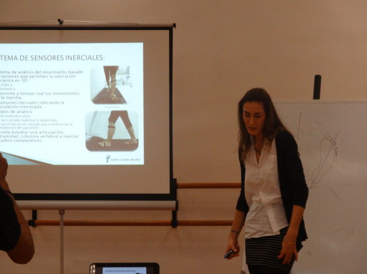 The Institut Català del Peu gives a cpurse about biomechanics in the Pilar Dominguez Institute.