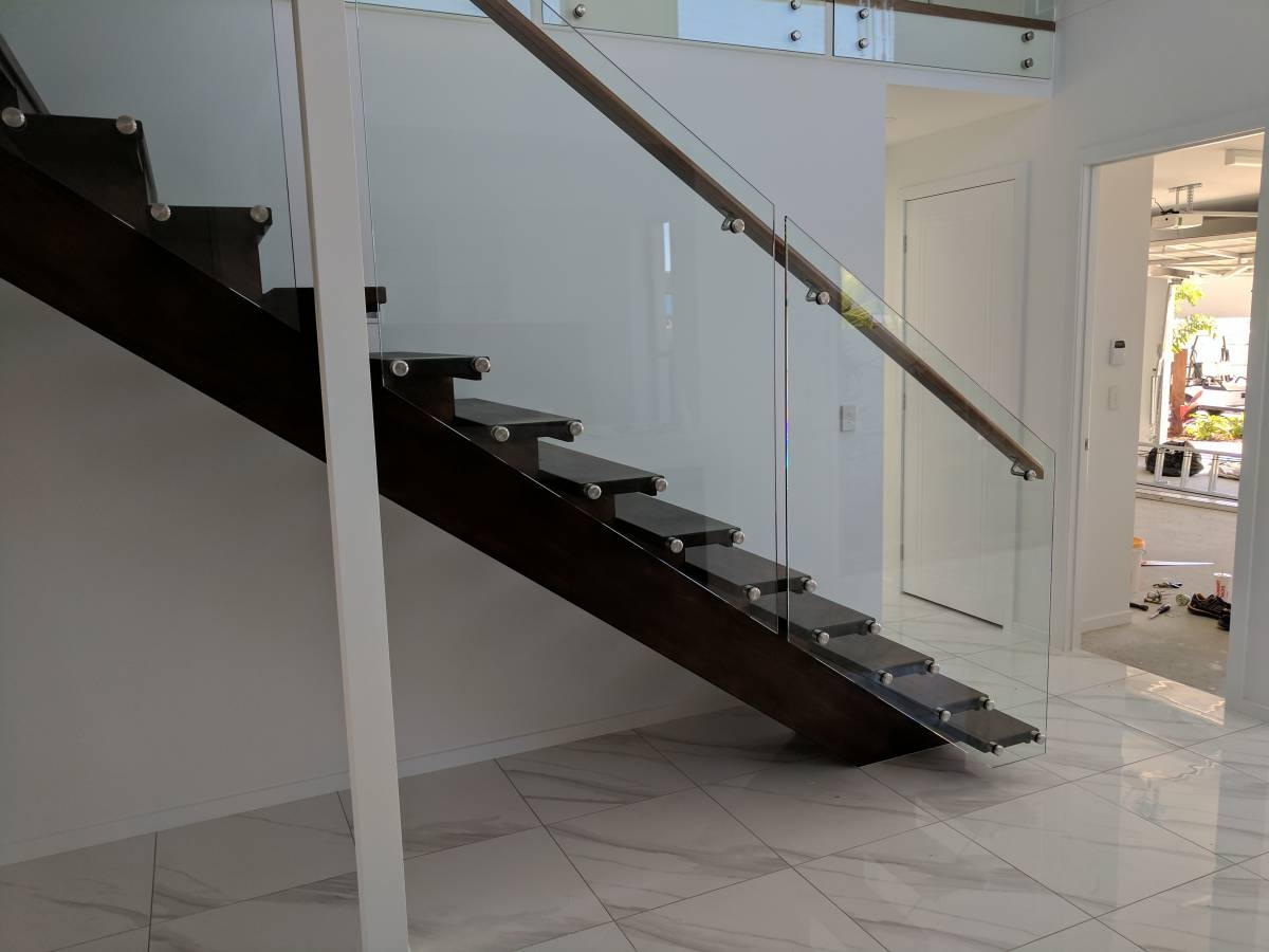 Stair Glass Balustrade Side Mounted Insular Patios | Stairs With Glass Sides