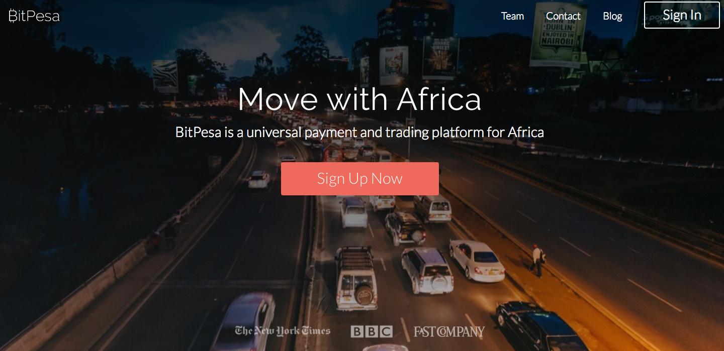 Screenshot of BitPesa