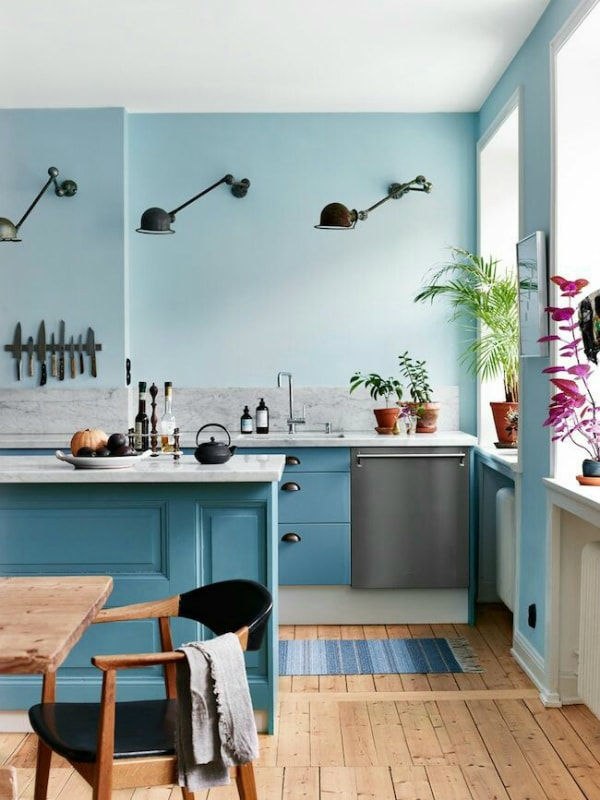 Sky Blue Kitchen Design Ideas Interiorholic Com