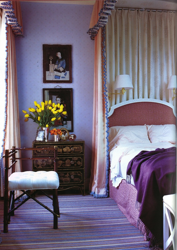 Jeffrey Bilhuber S Purple Interiors By Color