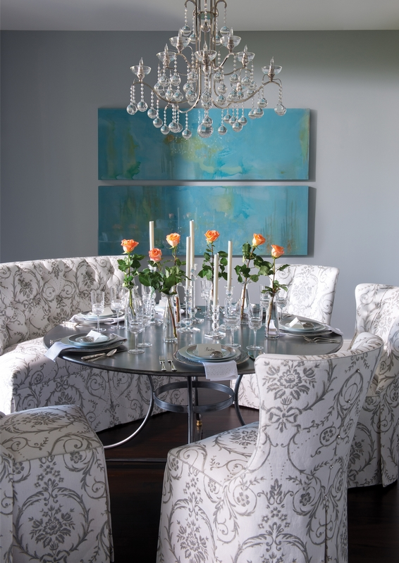 Eclectic Dining In Gray And Turquoise Interiors By Color