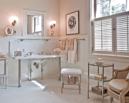 Renovated Bathroom In White And Muslin Interiors By Color