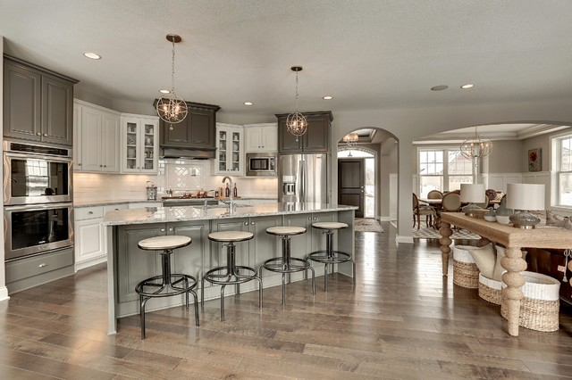 Transitional Gray And White Kitchen Interiors By Color