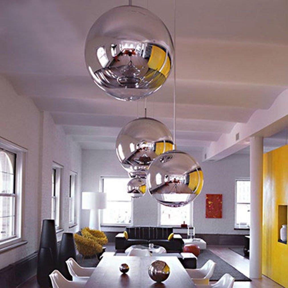 Chrome Sphere Pendant Light