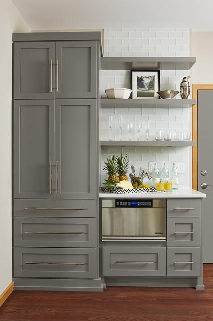 Black Kitchen Cabinets Grey Walls