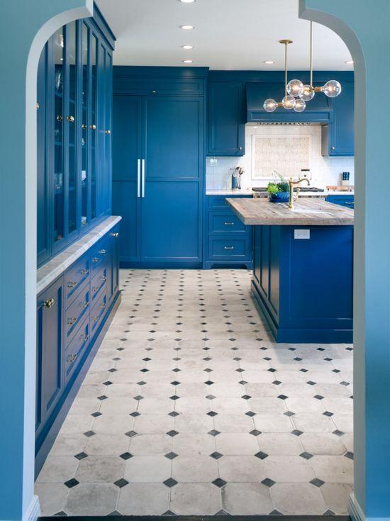 Amazing Blue Kitchen Painted In Farrow Amp Ball Stiffkey