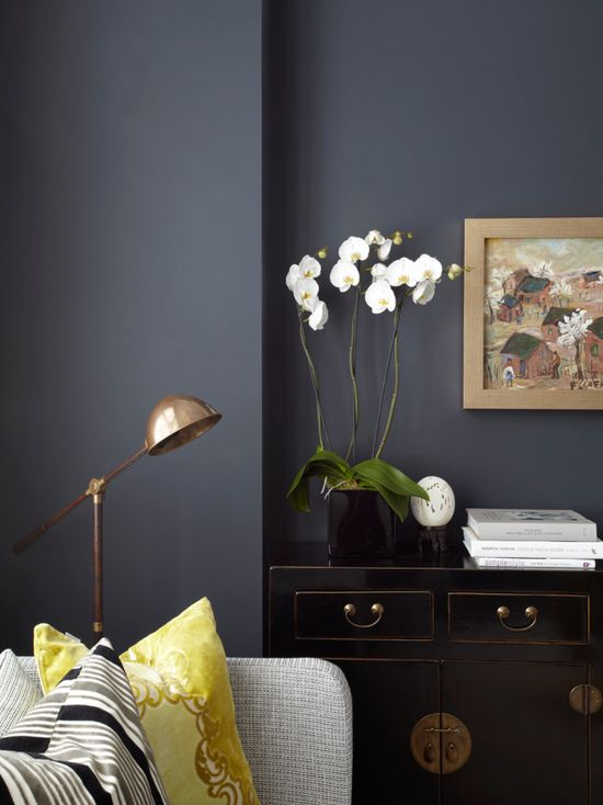 Gray And Purple Accent Chair