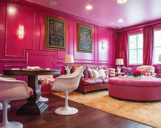 Benjamin Moore Crushed Berries Pink Color Scheme Living