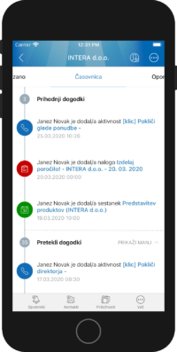 iOS mobilna aplikacija Intrix