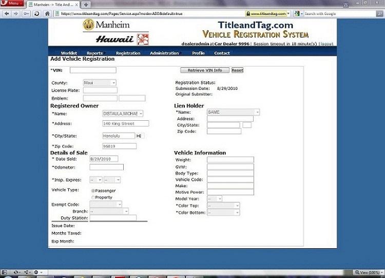 Hawaii Dmv Registration Renewal Online