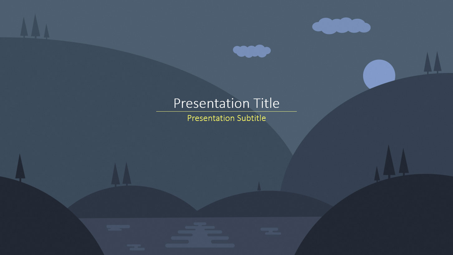 Free PowerPoint Templates Dark Nature