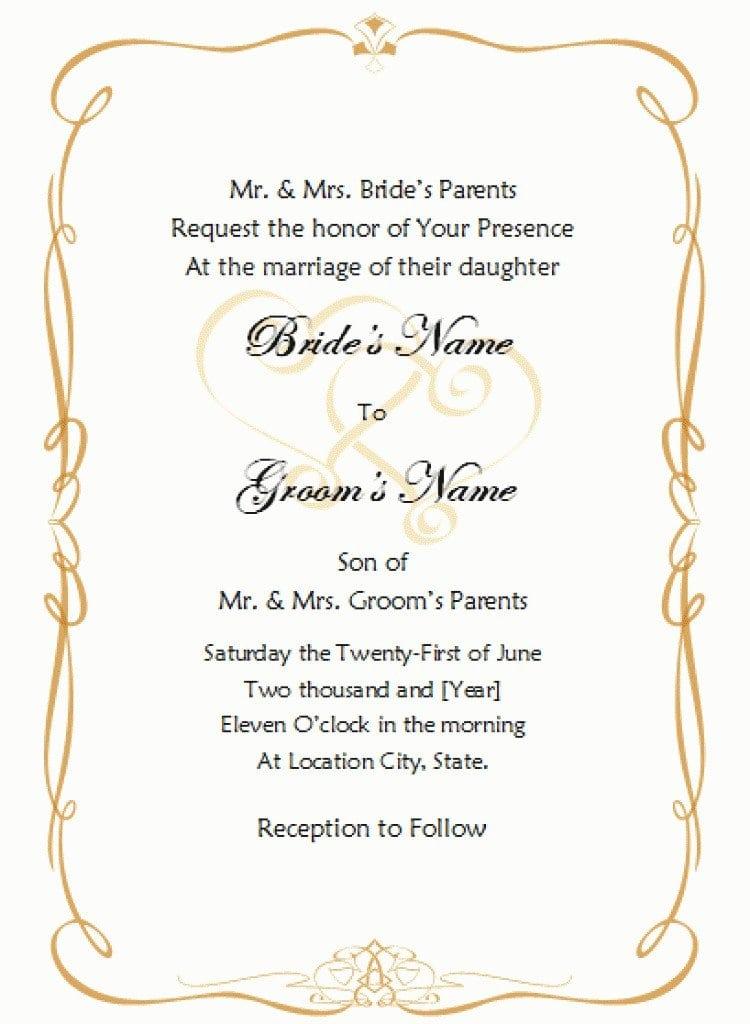 Formal Invitation Template