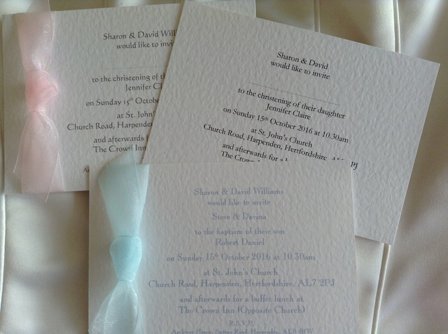 Discount Baptism Invitations