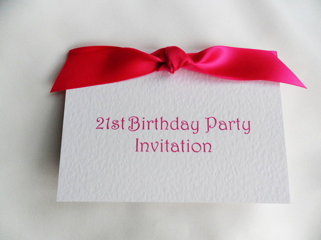 Birthday Christening Invitation